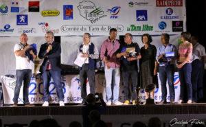 Les éducateurs de l'année : Patrick Roca et Pascal Duffour (Sor Agout) Thierry Pelet (Carmaux) Maamar Mebarka (Mazamet)