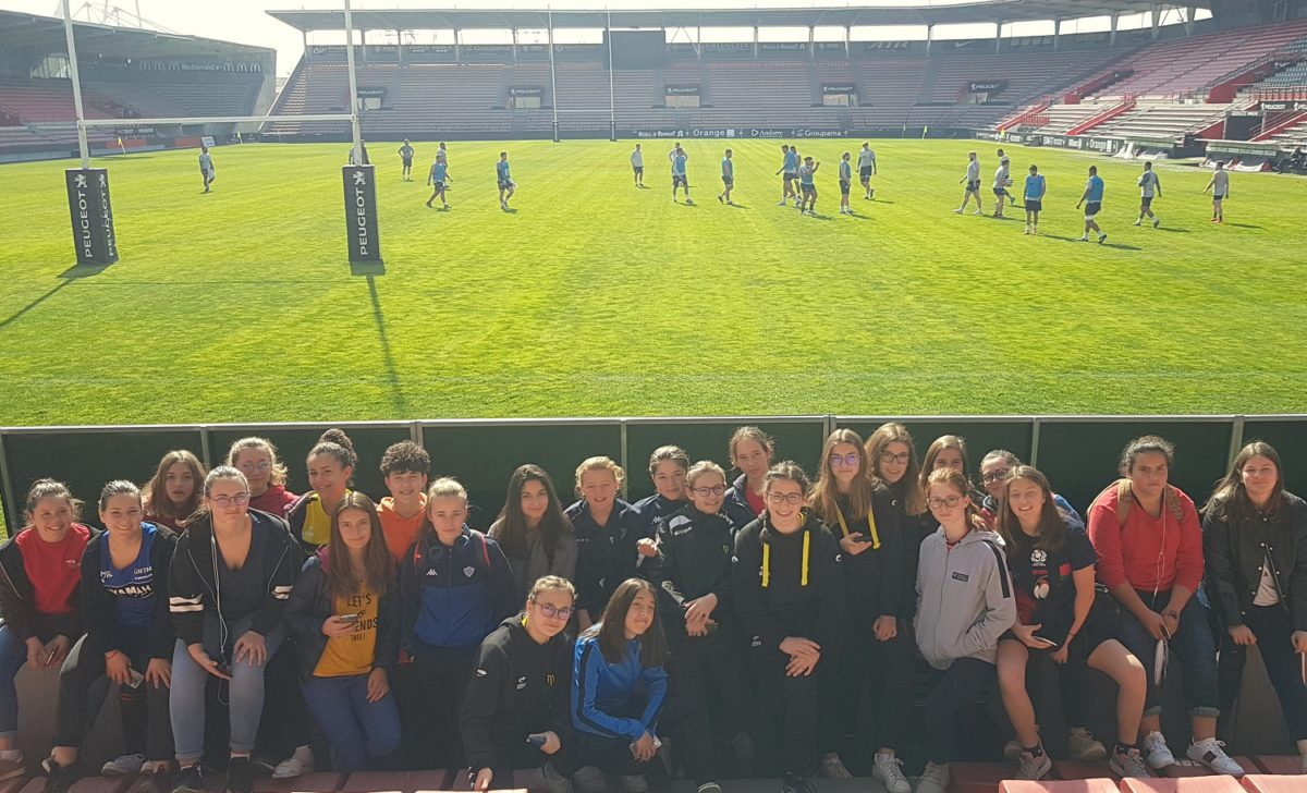 Les M15 filles du Tarn au stade Ernest-Wallon.