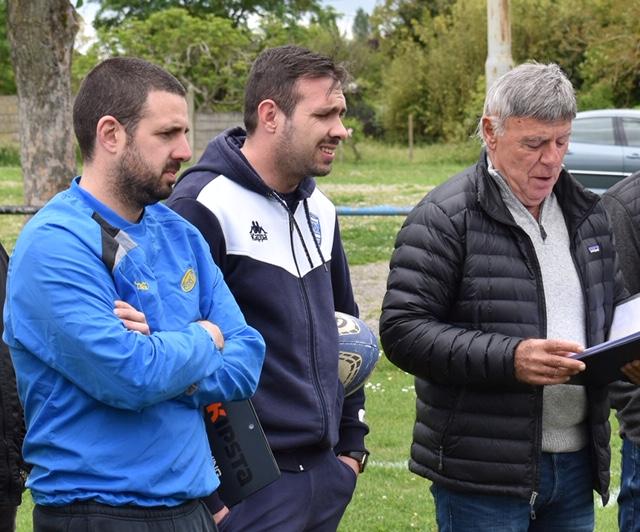 Le staff, Gael Casbas, Pierrick Girbas, Michel Soulet.