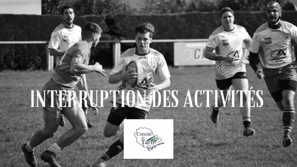 Interruption des activités rugbystiques: modalités pratiques