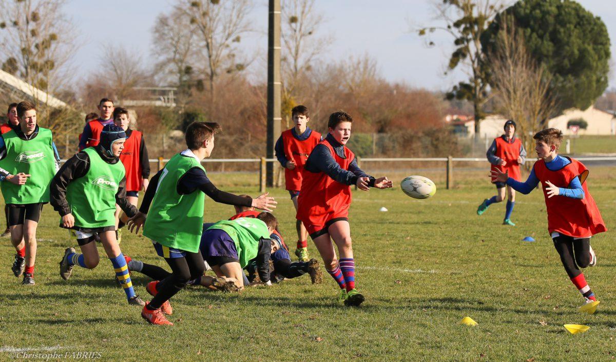 Mazamet : rugby au collège Jeanne D'Arc